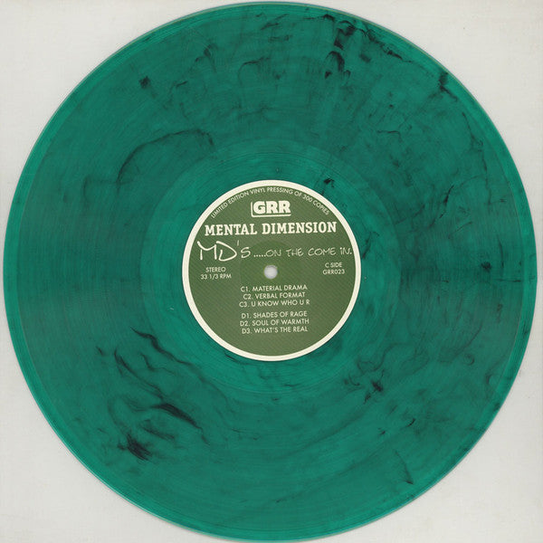 Mental Dimension - MD's..... On The Come In [Color] [Vinyl Record / 2 x LP]-Gentleman's Relief Records-Dig Around Records