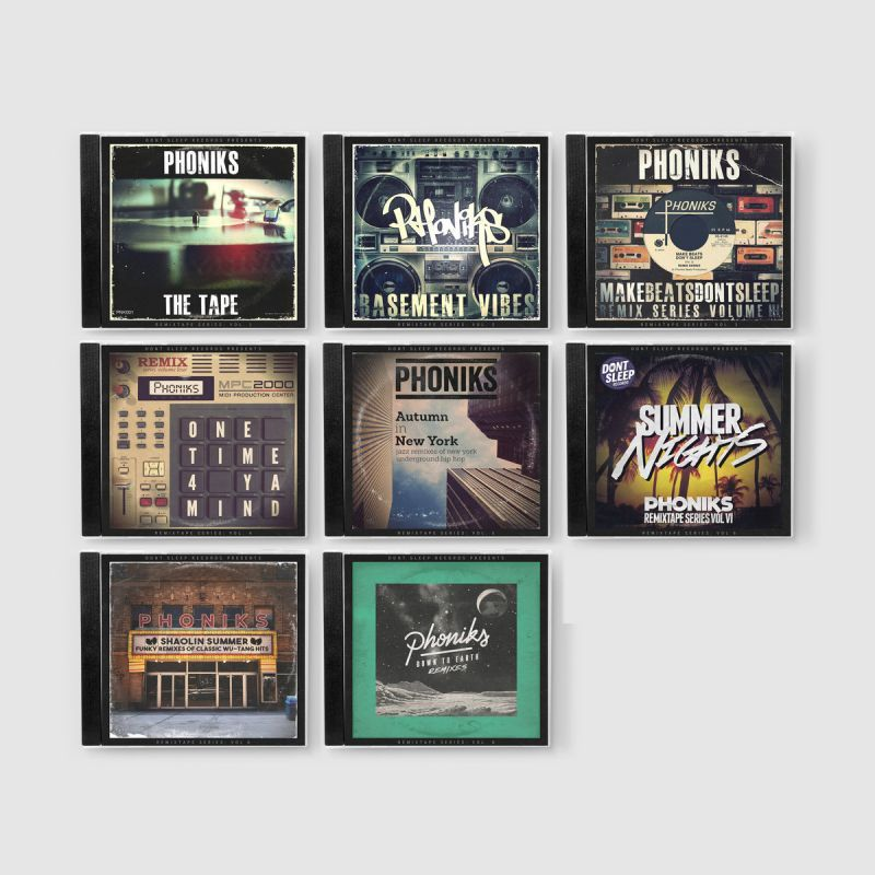 Phoniks - Phoniks Remixtape Series: 8-CD Set [CD / 8 x CD]-Don't Sleep Records-Dig Around Records