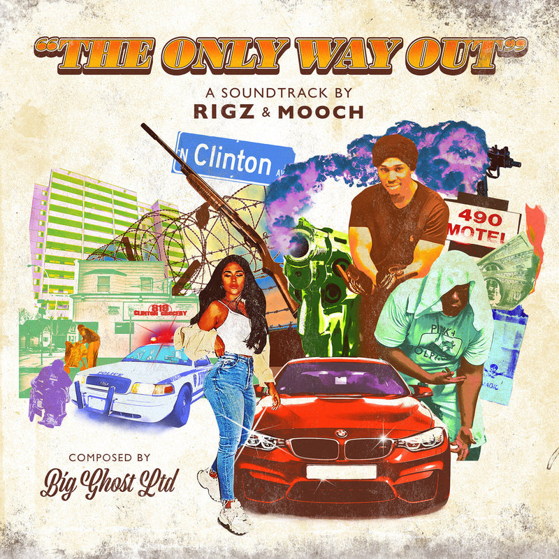 Rigz & Mooch - The Only Way Out (Composed by Big Ghost LTD) [Black Edition] [Vinyl Record / LP]-de Rap Winkel Records-Dig Around Records