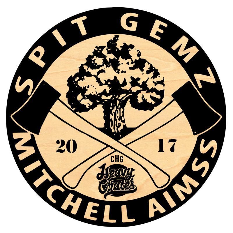 "SPIT GEMZ & MITCHELL AIMSS - RESPECT FIRE [Vinyl Record / 12""]-Heavy Crates-Dig Around Records"