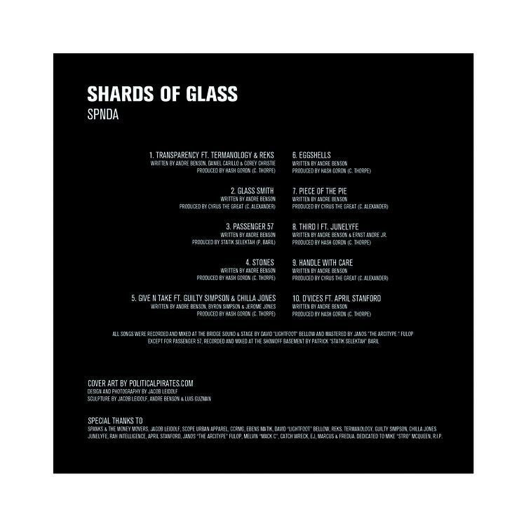 SPNDA - SHARDS OF GLASS [CD]-AR Classic Records-Dig Around Records