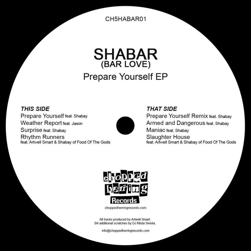 "Shabar - Prepare Yourself [Black] [Vinyl Record / 12""]-Chopped Herring Records-Dig Around Records"
