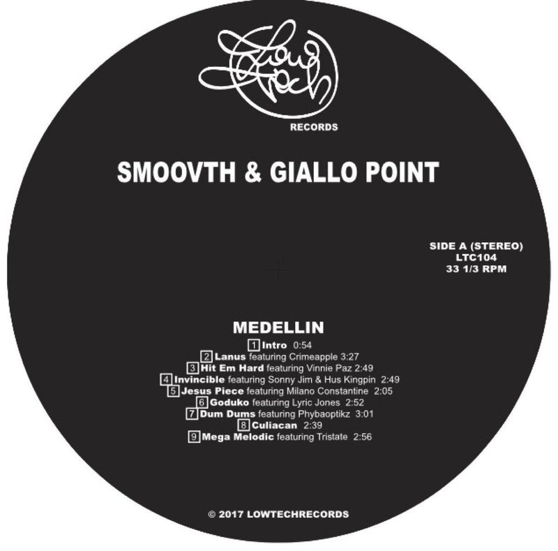 Smoovth & Giallo Point - Medellin [Vinyl Record / LP]-Lowtechrecords-Dig Around Records