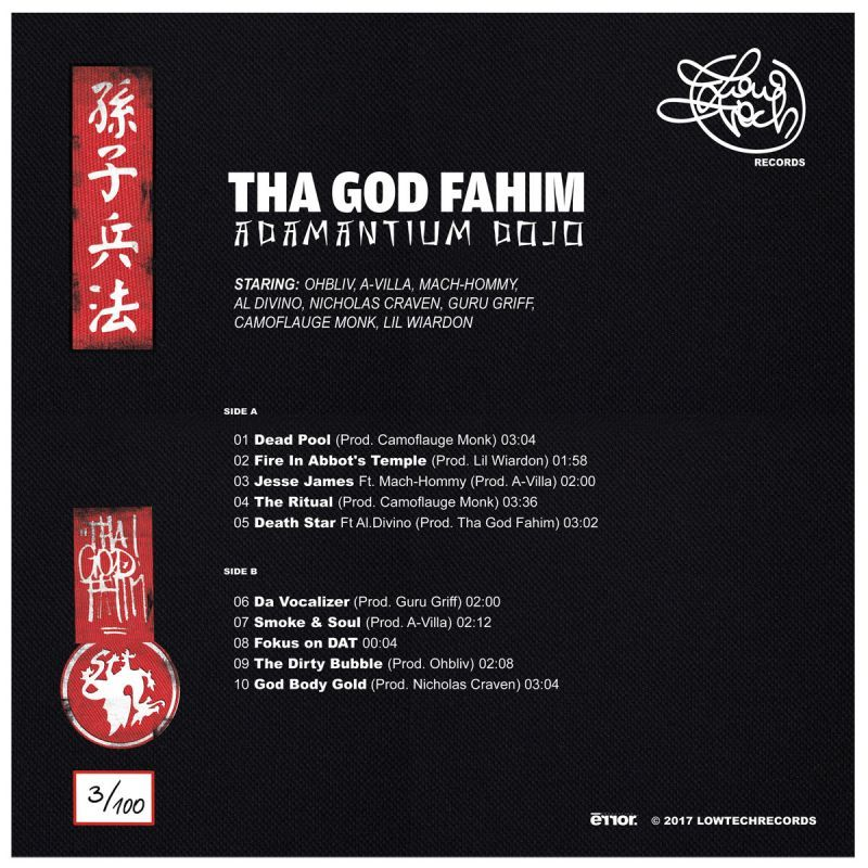 Tha God Fahim - Adamantium Dojo [Vinyl Record / LP]-Lowtechrecords-Dig Around Records