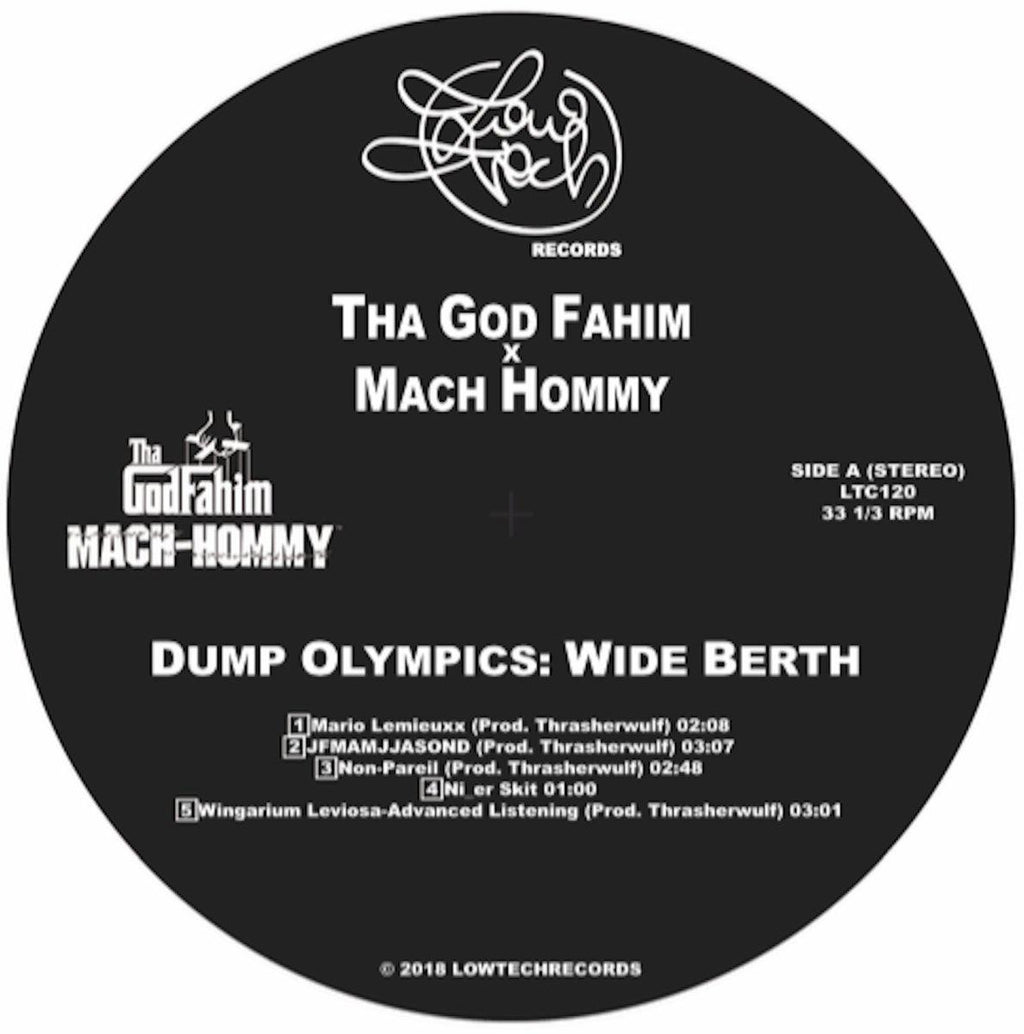 Tha God Fahim X Mach Hommy - Dump Olympics: Wide Berth [Clear] [Vinyl Record / LP] - Dig Around Records