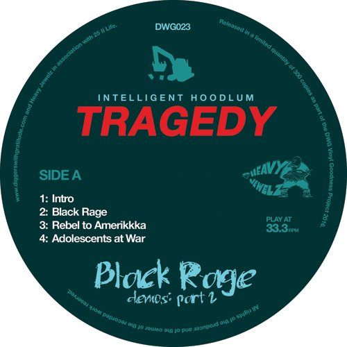 "Tragedy - Black Rage Demos Vol 2 [Black] [Vinyl Record / 12""]-Diggers With Gratitude-Dig Around Records"