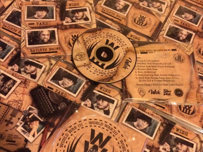 Vard & Wish - World War 3 [CD]-Not On Label-Dig Around Records