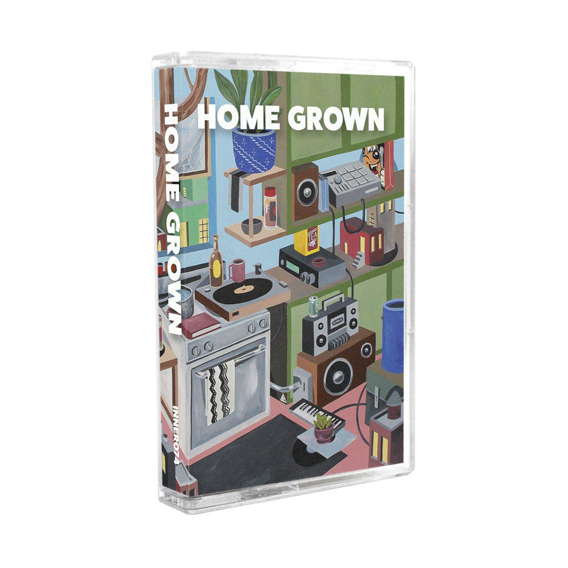Various Artists - HOME GROWN COMPILATION [Cassette Tape + Sticker]-INNER OCEAN RECORDS-Dig Around Records