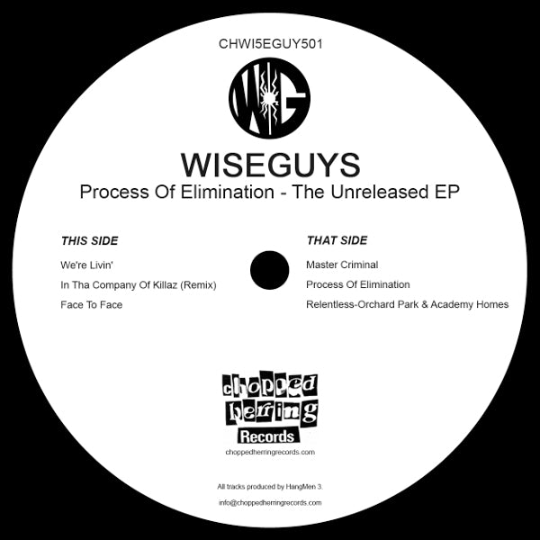 "Wise Guys - Process of Elimination [Vinyl Record / 12""]-Chopped Herring Records-Dig Around Records"