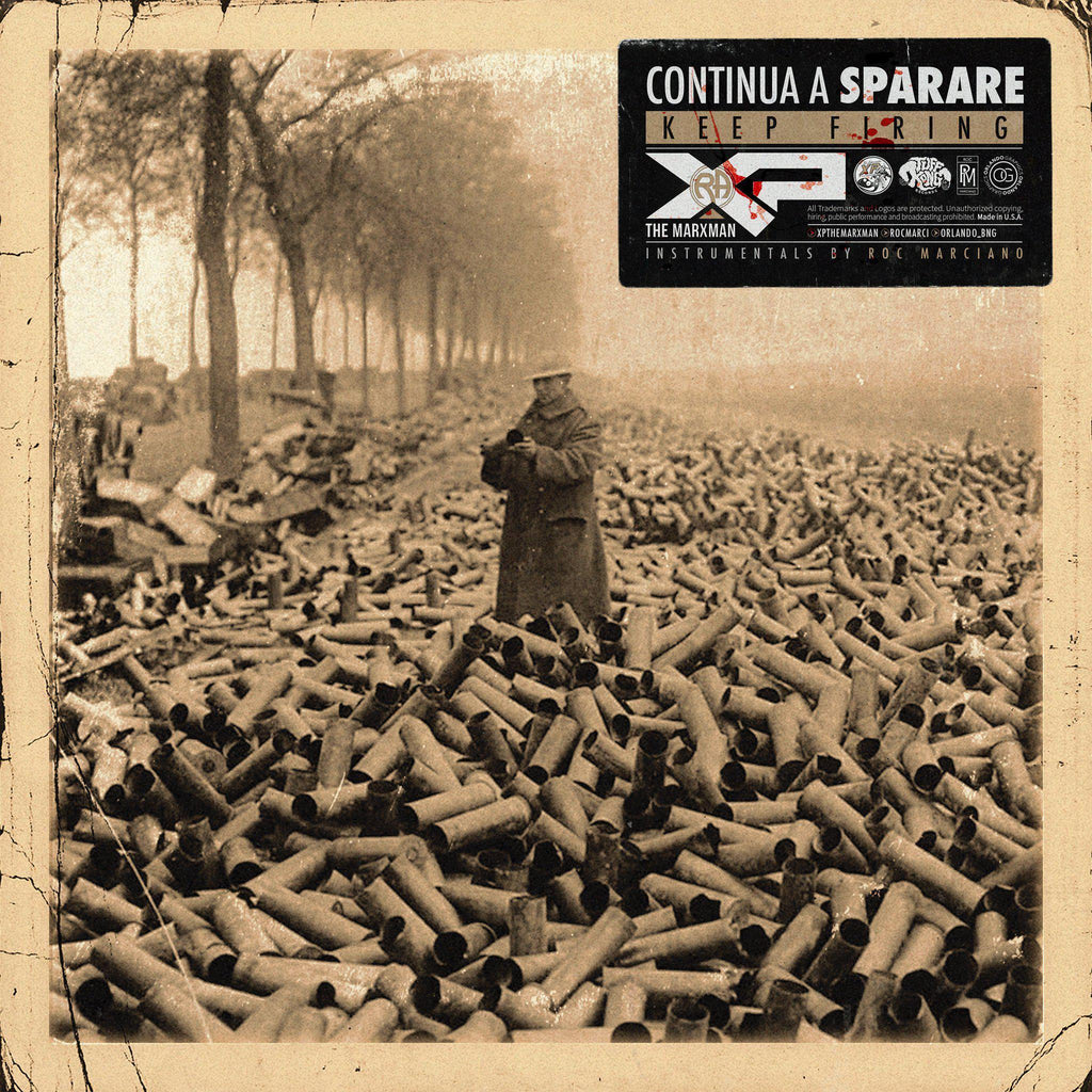 XP THE MARXMAN x ROC MARCIANO - Continua a Sparare (Keep Firing) [CD + Sticker] - Dig Around Records