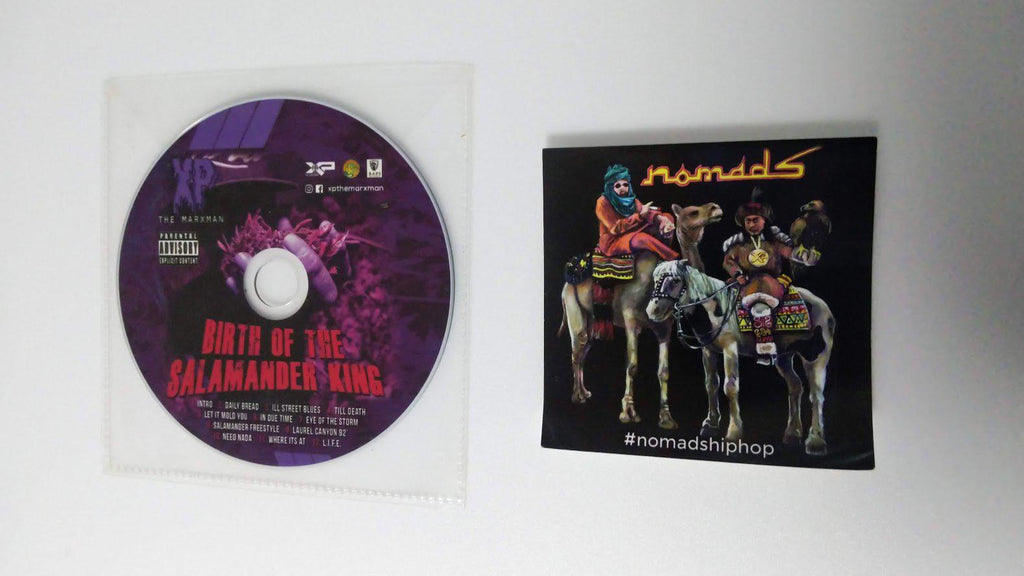 XP The Marxman & Icerocks - Nomads [Autographed]  [CD + Bonus CD + Sticker] - Dig Around Records