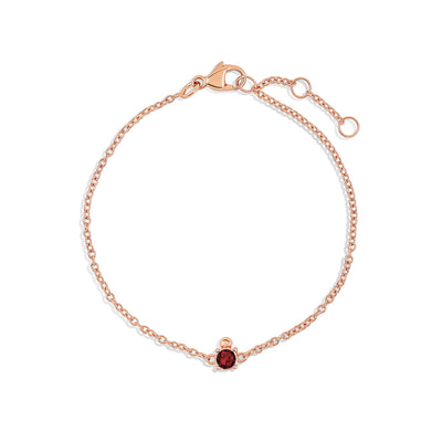 Rose Gold Bobbi Birthstone Bracelet