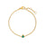 Gold Bobbi Birthstone Bracelet