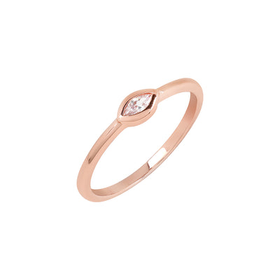 Rose Gold Marquise Cubic Ring