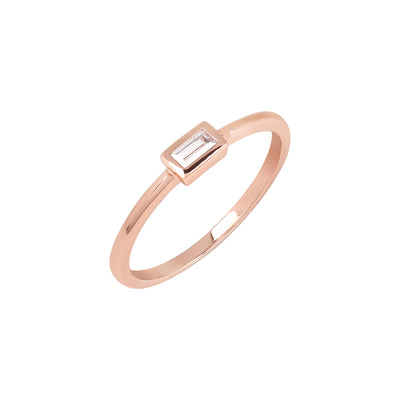 Rose Gold Bailey Cubic Ring
