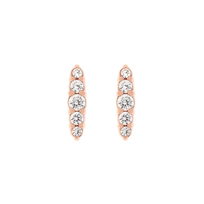 Rose Gold Laura Cubic Studs