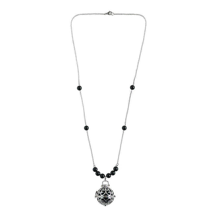 Yu Ahn Onyx Cluster Necklace