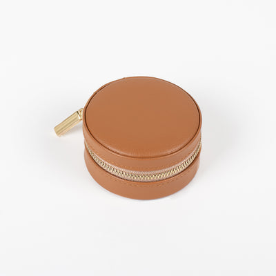 Caramel Macaron Leather Jewellery Box