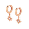 Rose Gold Celeste Cubic Earrings