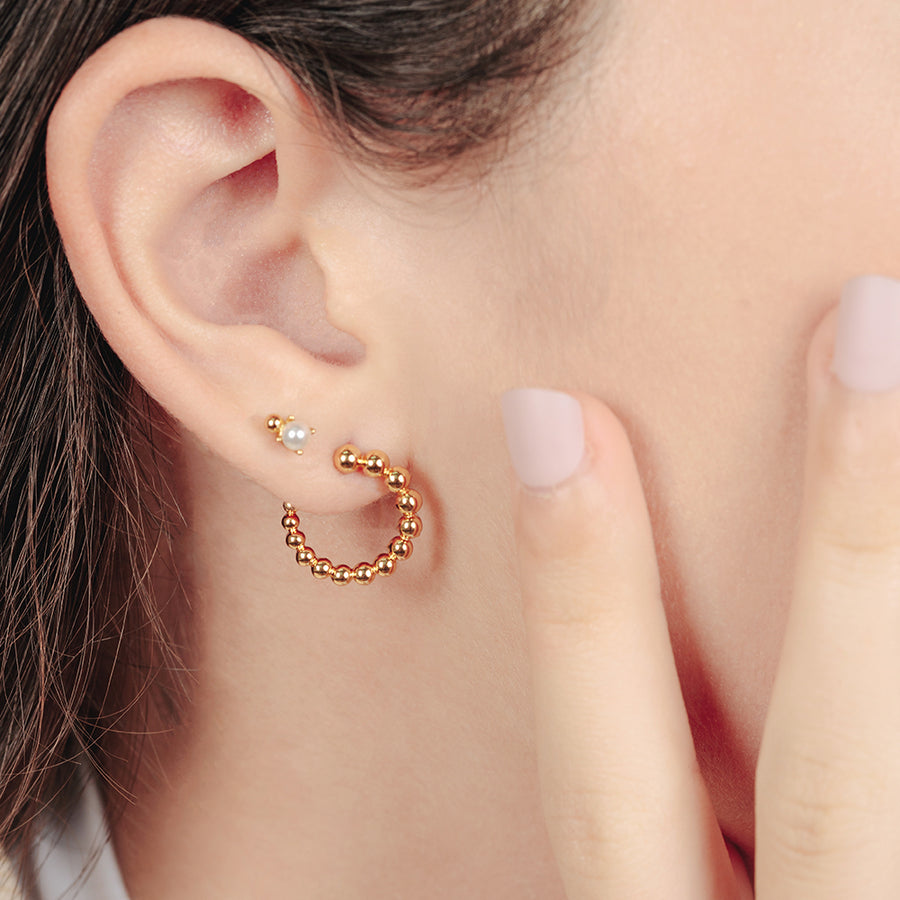 Gold Esme Illusion Studs