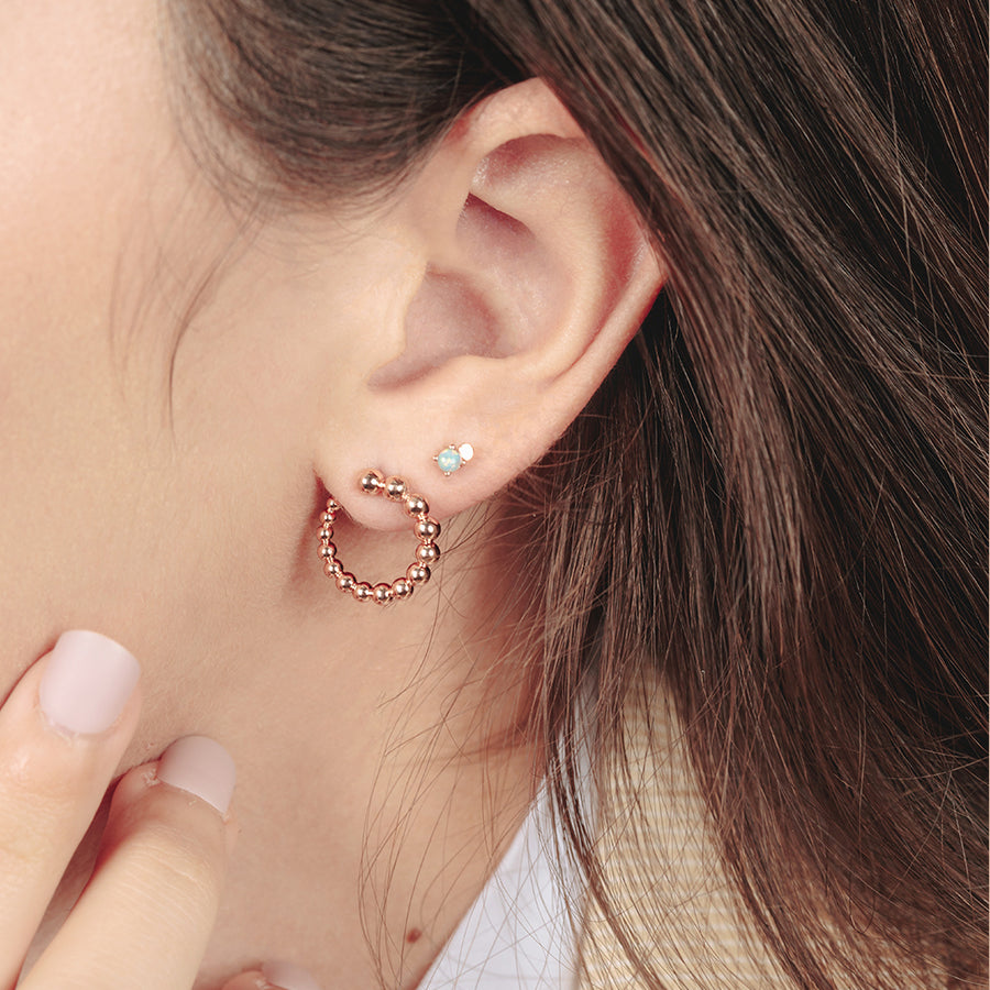 Rose Gold Esme Illusion Studs