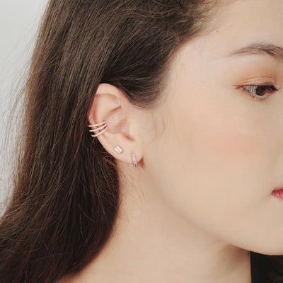 Rose Gold Eva Cubic Ear Cuff