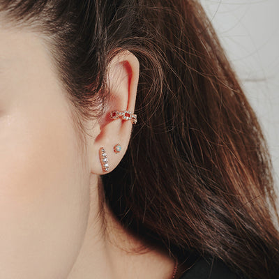 Rose Gold Ezra Cubic Ear Cuff