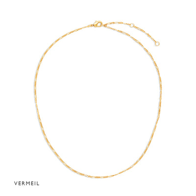 Gold Vermeil Figaro Necklace