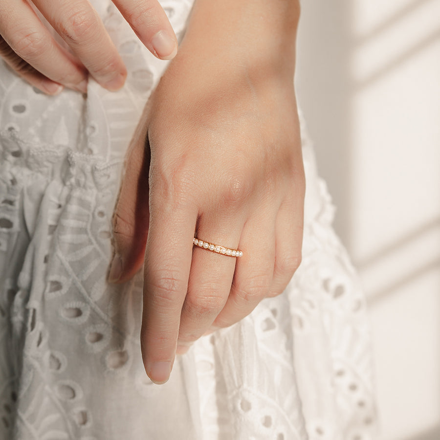 Gold Alice Pearl Ring