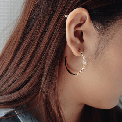 Gold Aria Cubic Earrings
