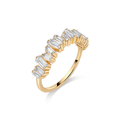Gold Aria Cubic Ring