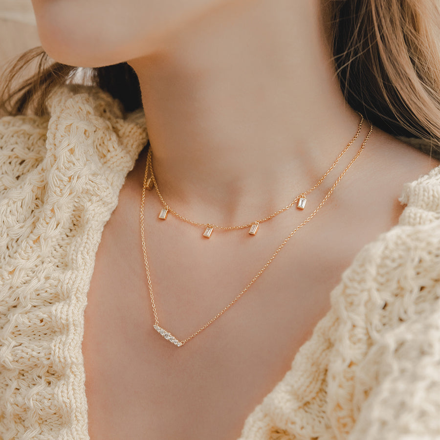 Gold Bailey Cubic Choker
