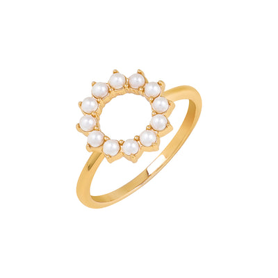 Gold Beth Pearl Ring