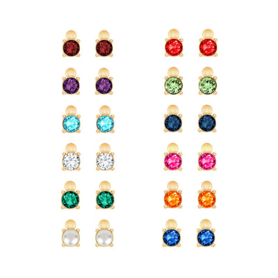 Gold Bobbi Birthstone Studs