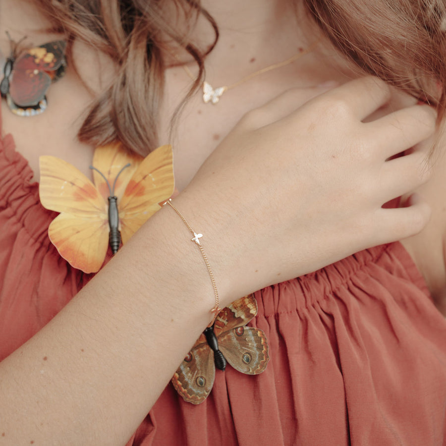 Gold Chrys Butterfly Bracelet