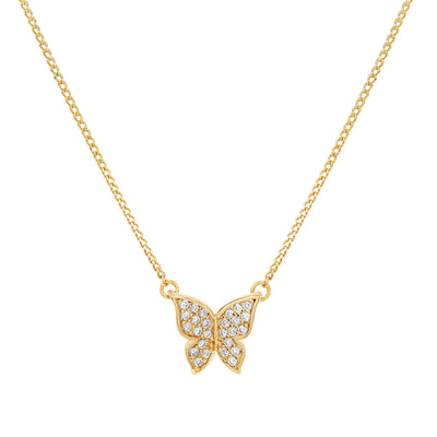 Gold Butterfly Cubic Necklace