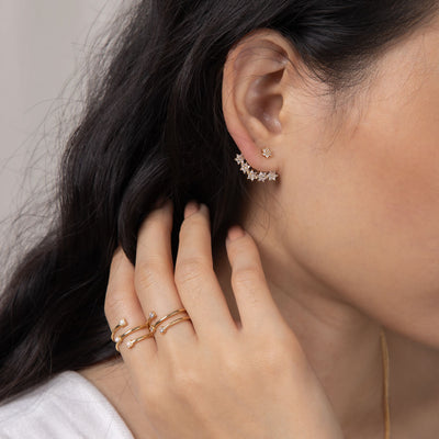 Gold Callie Cubic Ear Jackets