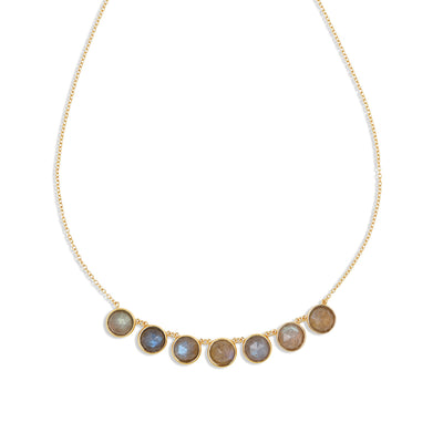 Gold Callisto Labradorite Necklace
