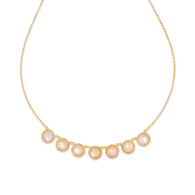 Gold Callisto Moonstone Necklace