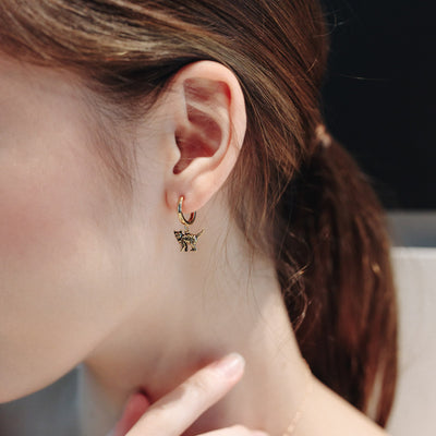 Gold Leopard Hoop Earrings