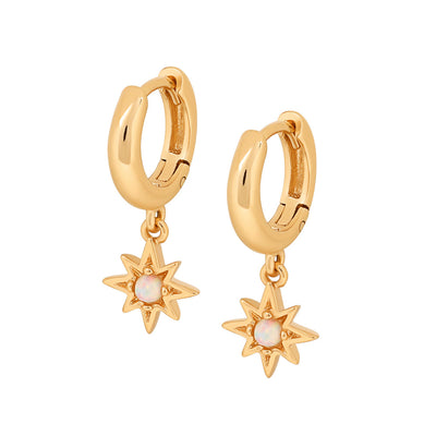 Gold Celeste Opal Earrings