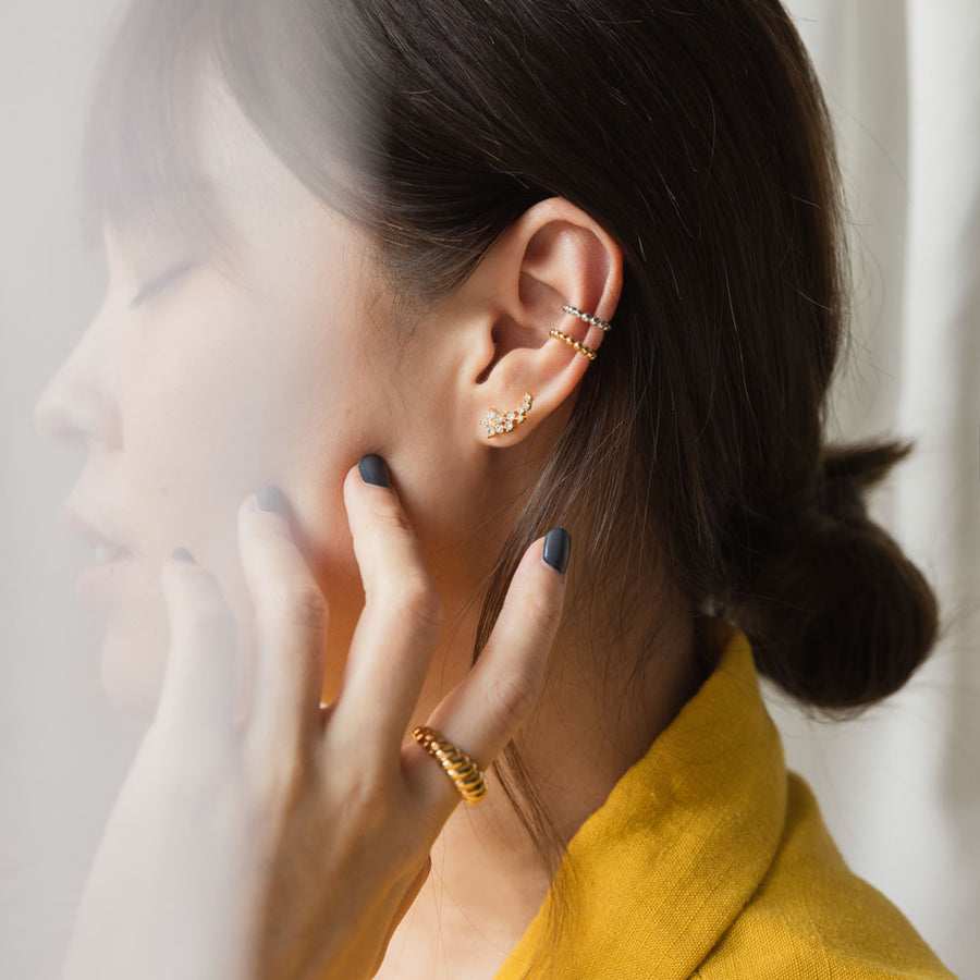 Gold Cecile Cubic Earrings