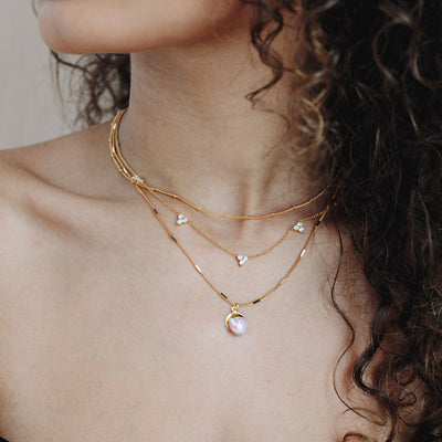 Gold Quinn Cubic Necklace