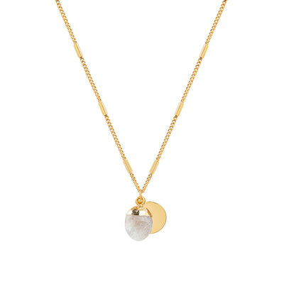 Gold Delphine Moonstone Necklace