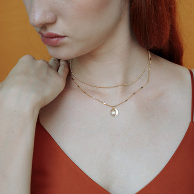Gold Delphine Rose Quartz Necklace