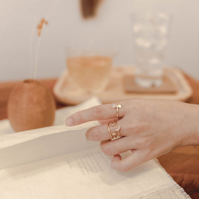 Gold Jenna Moonstone Ring