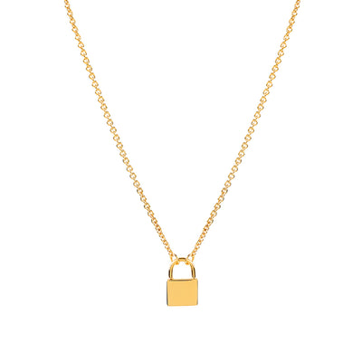 Gold Vermeil Lock Necklace
