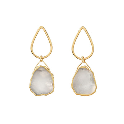 Gold Macey Moonstone Studs