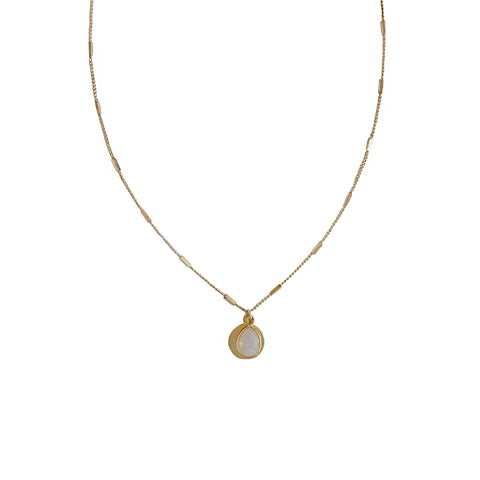 Gold Amie Moonstone Necklace