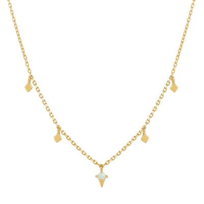 Gold Odessa Opal Necklace